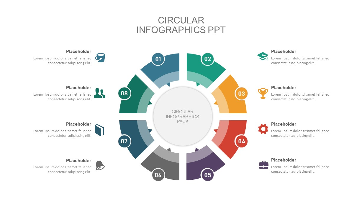 circular diagram Presentation template