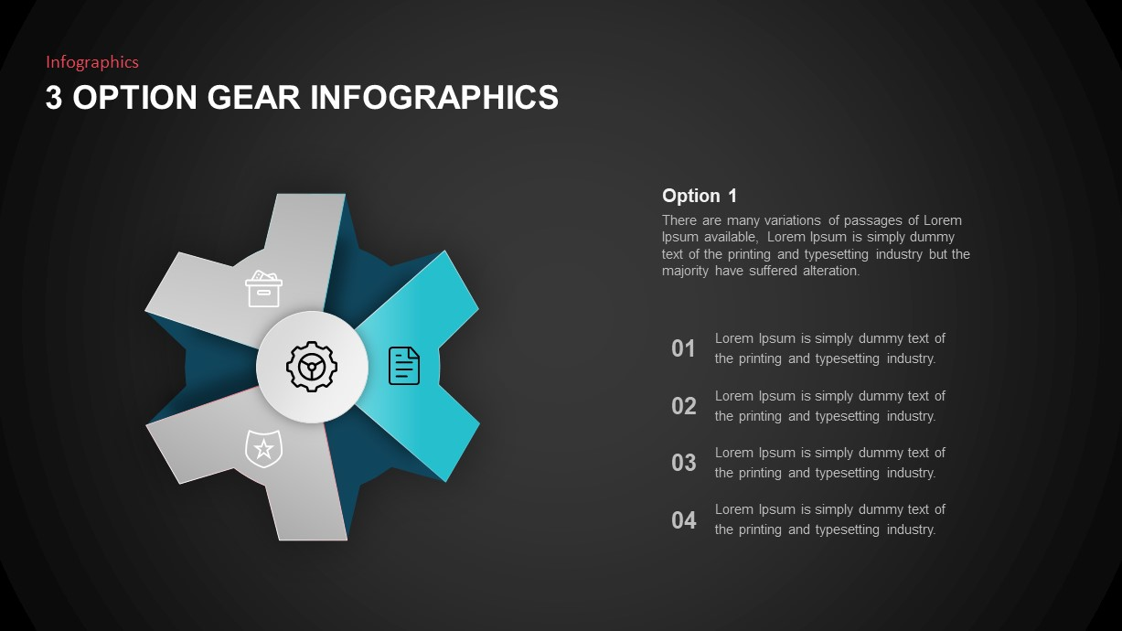 gear Infographic template