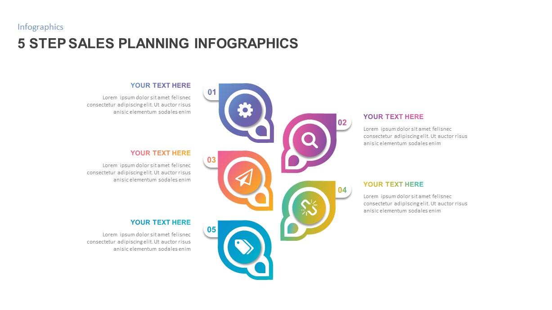 5 Step Sales Plan PowerPoint Template