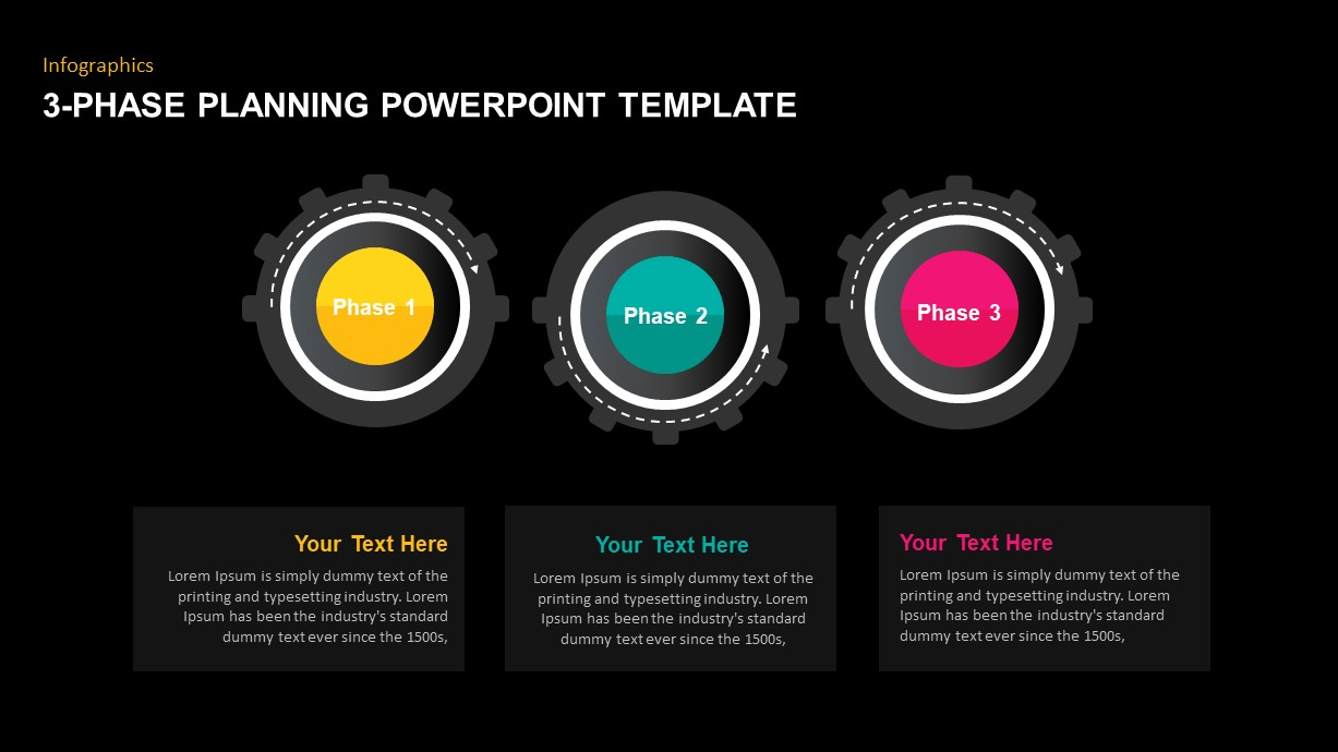3-Phase Planning Timeline Design for PowerPoint