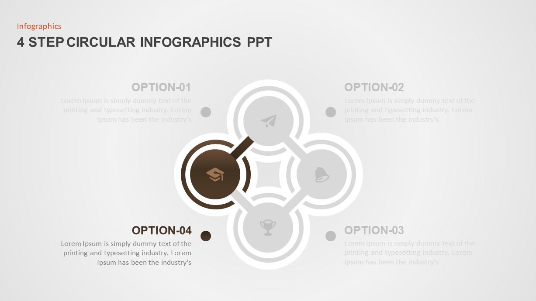 4 Step Circular Diagram Template