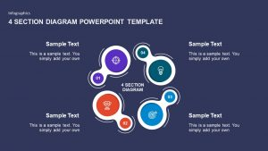 4 Section Diagram PowerPoint Template