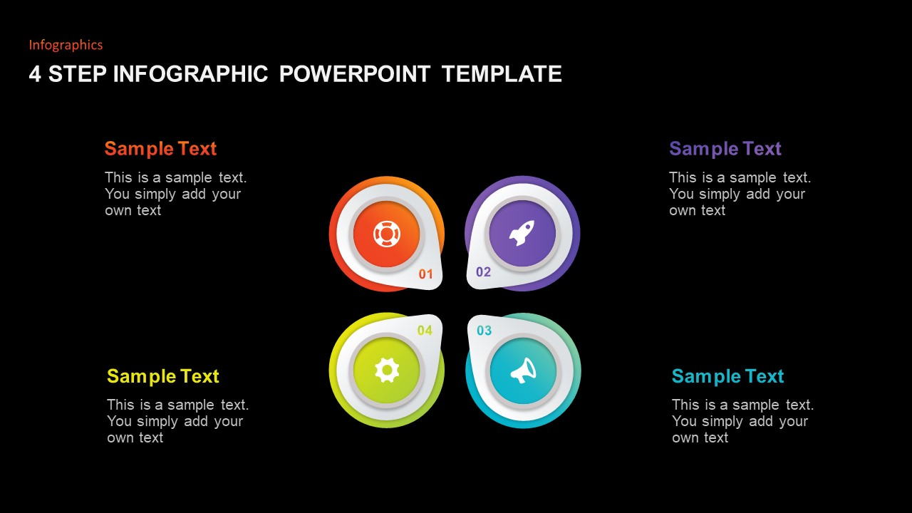 4 Step Infographic Template for PowerPoint