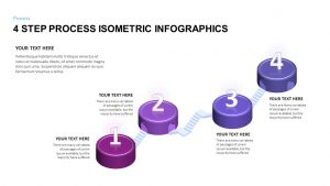 4 Step Process Isometric Infographic Template