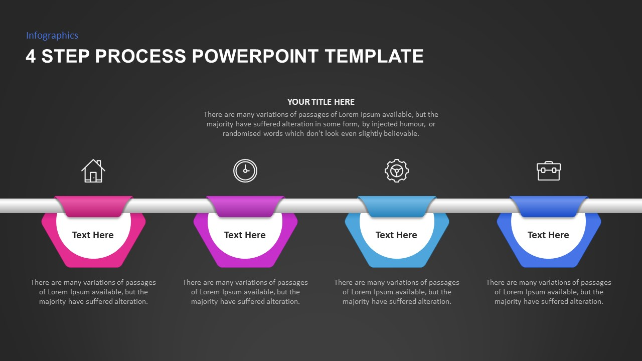 4 Step Process Ppt Template