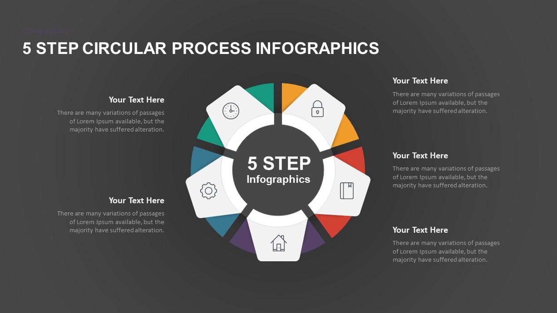 5 Step Circular Process PowerPoint Template