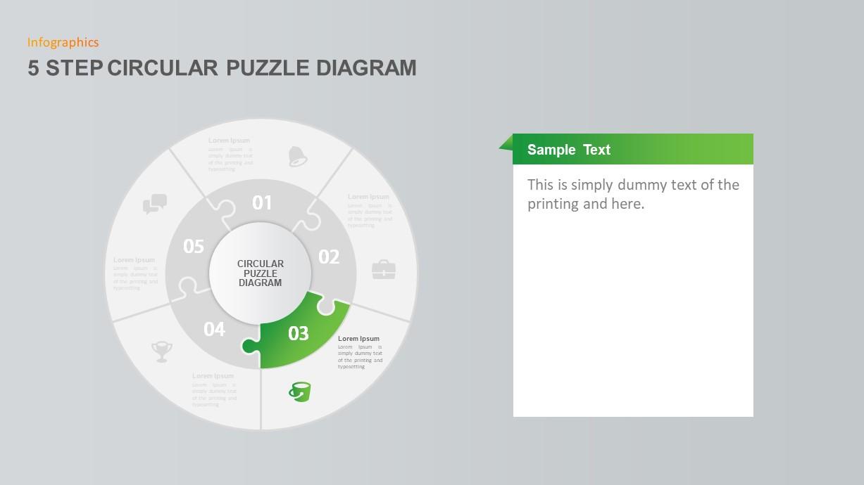 5 Step Circular Puzzle Diagram