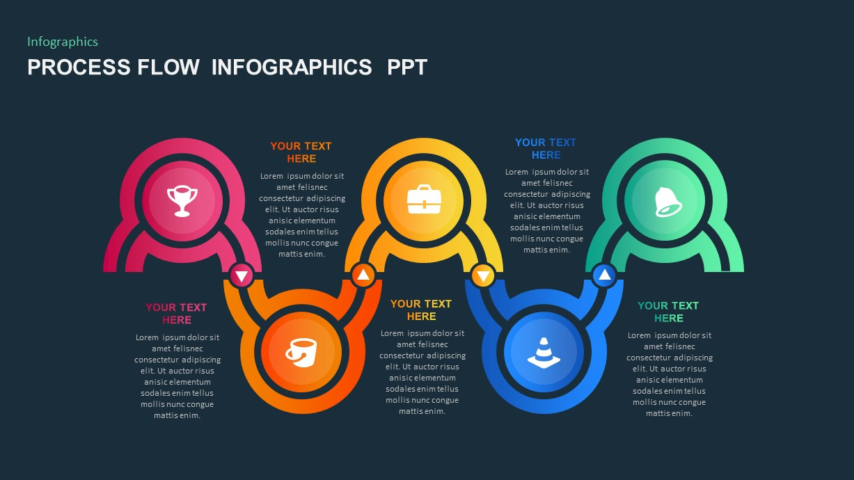5 Step process flow PowerPoint template
