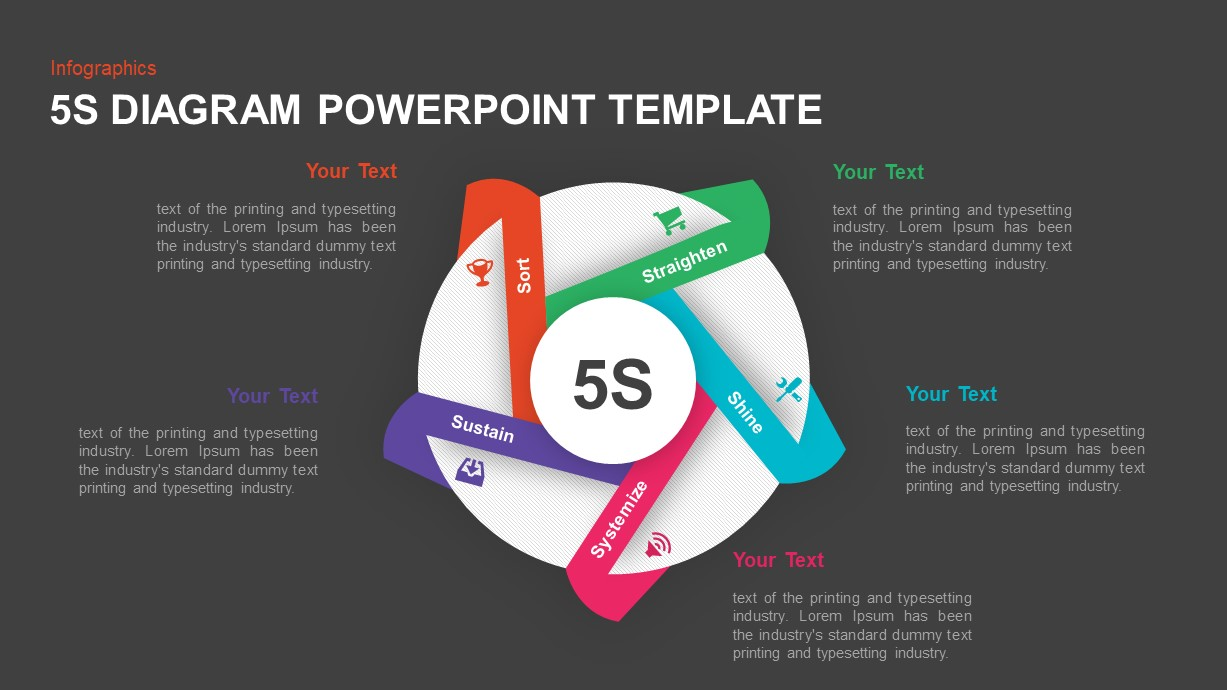5S Diagram PowerPoint Template