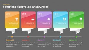 6 Business Milestones PowerPoint Timeline