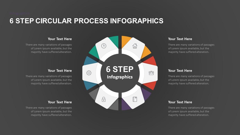 6 Step Circular Process PowerPoint Template