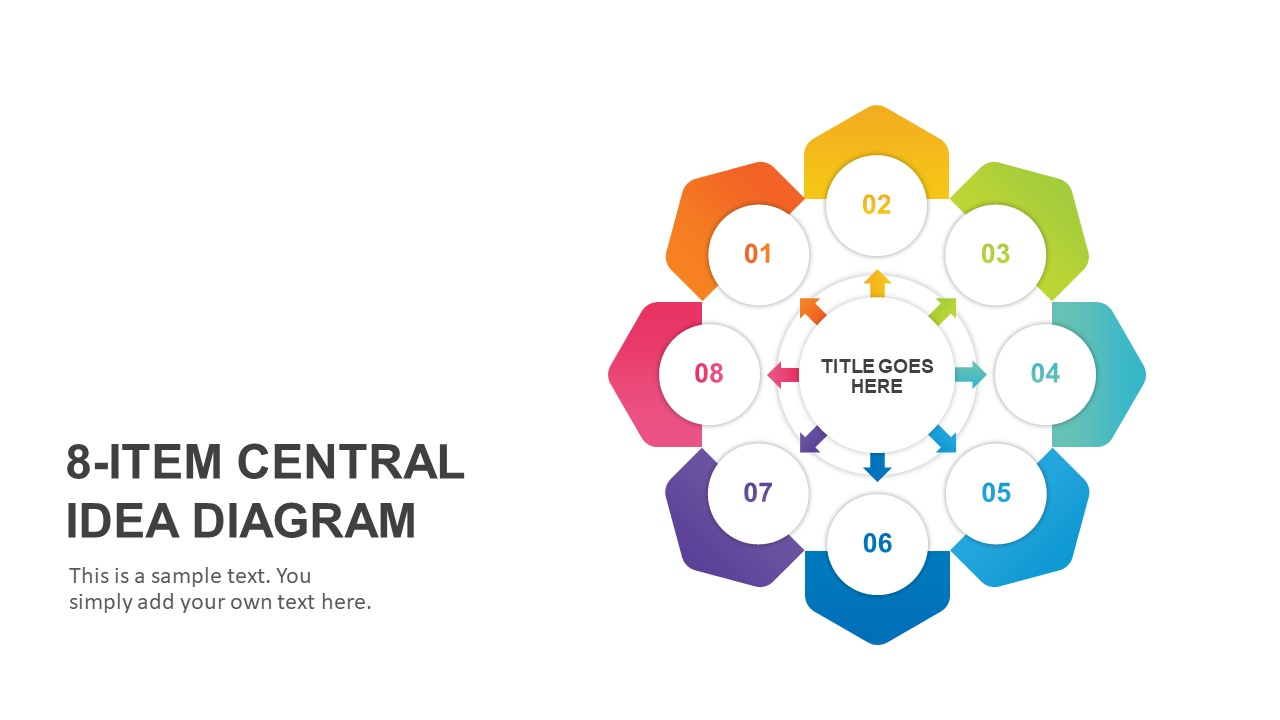 8-Item Central Idea PowerPoint Template
