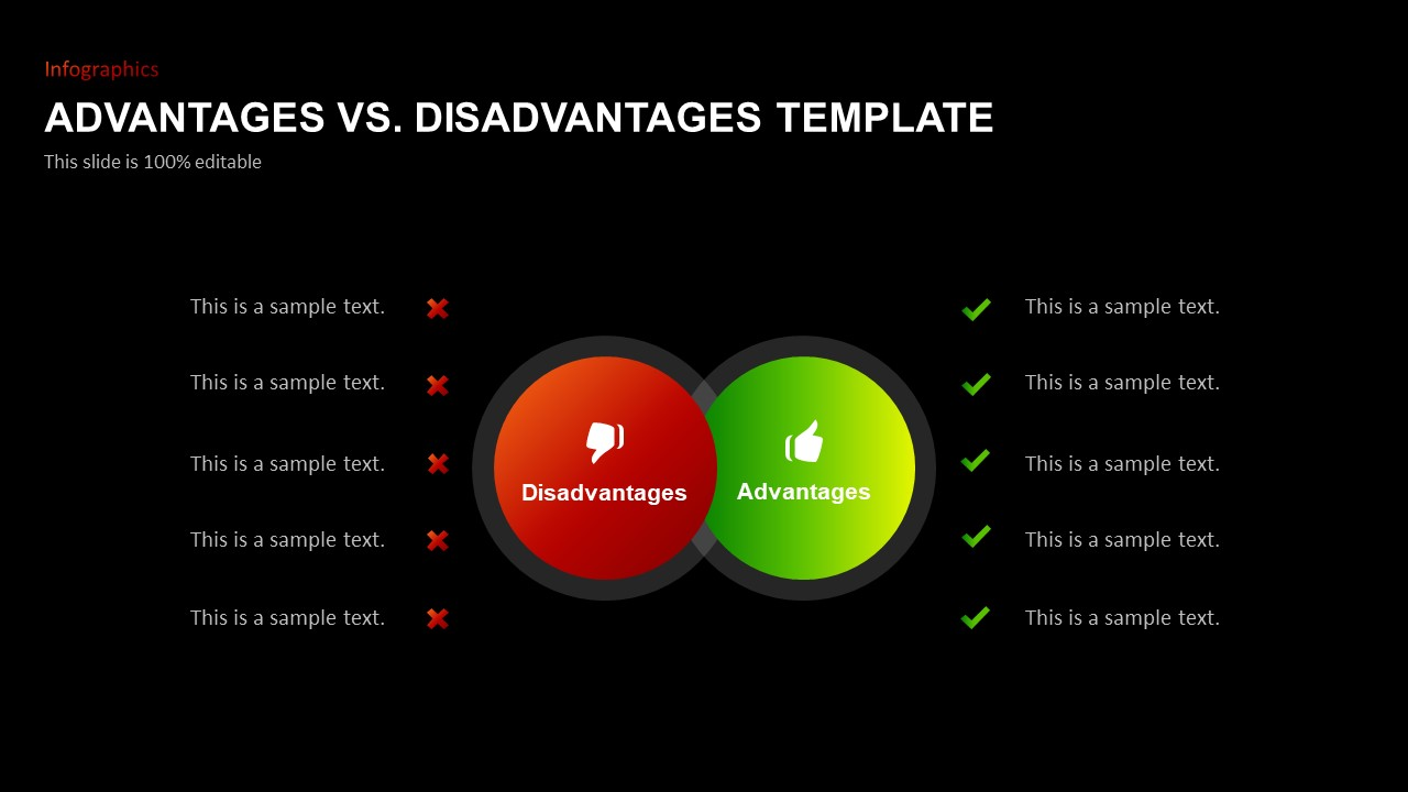 Advantages Disadvantages PowerPoint Slide