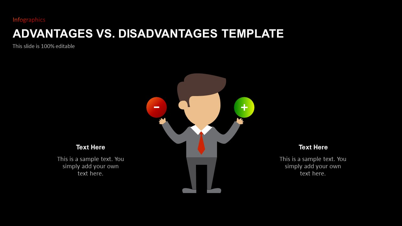 Advantages Disadvantages Presentation Template for PowerPoint
