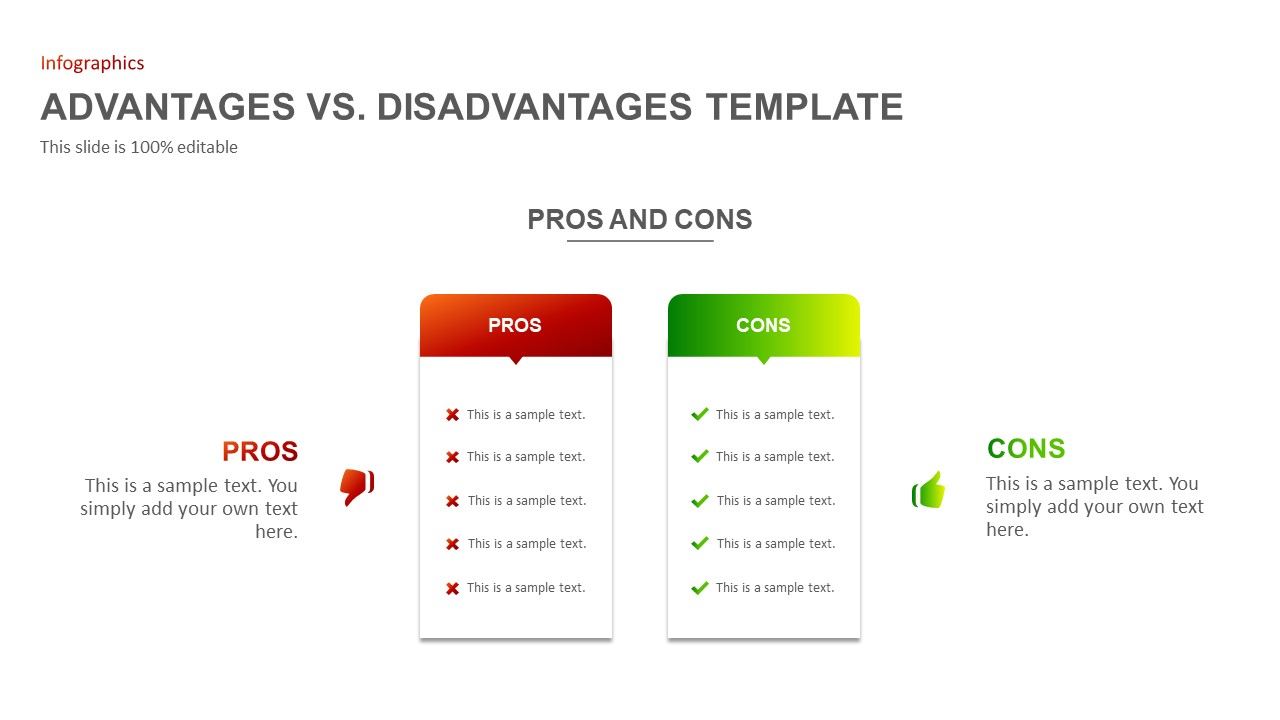 Advantages disadvantages PowerPoint template