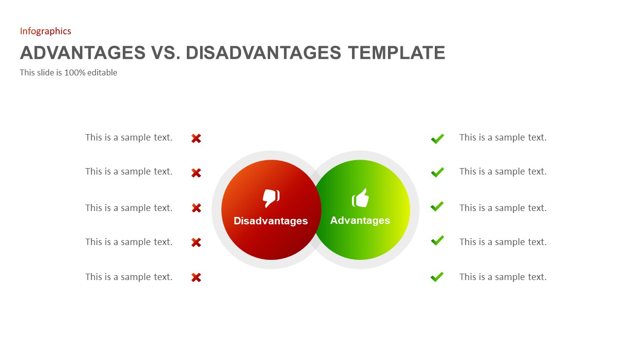 Advantages disadvantages Ppt template
