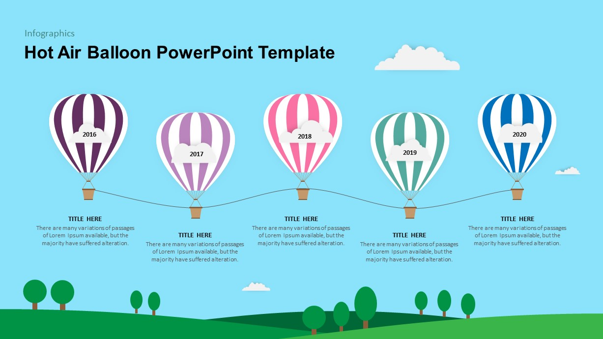Air Balloon PowerPoint Template