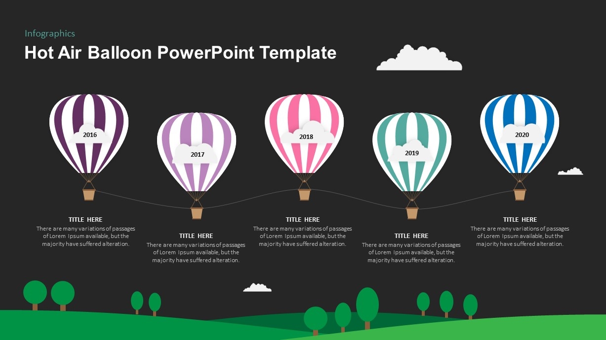 Air Balloon Ppt Template