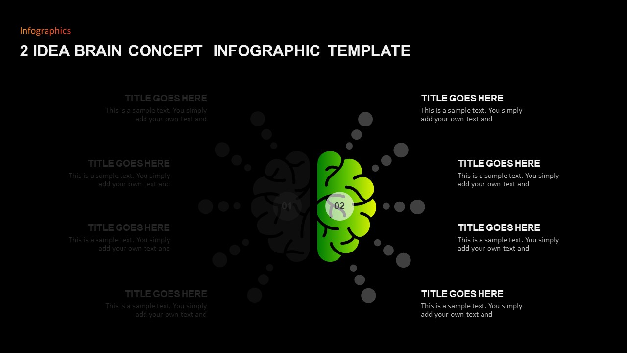Brain Infographic Template