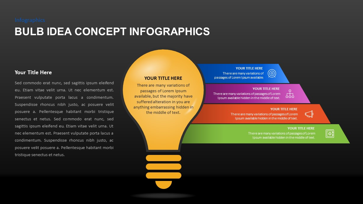 Bulb Idea Concept Infographic Template