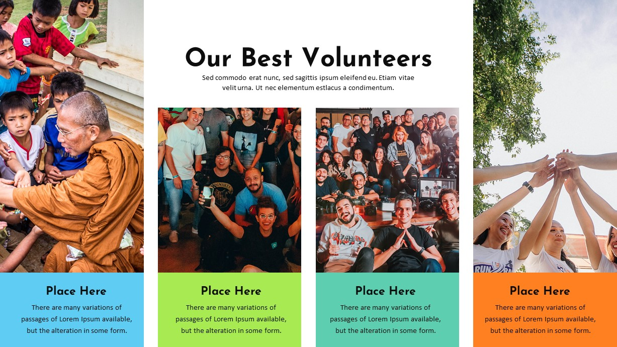 Charity PowerPoint Template Best Volunteer