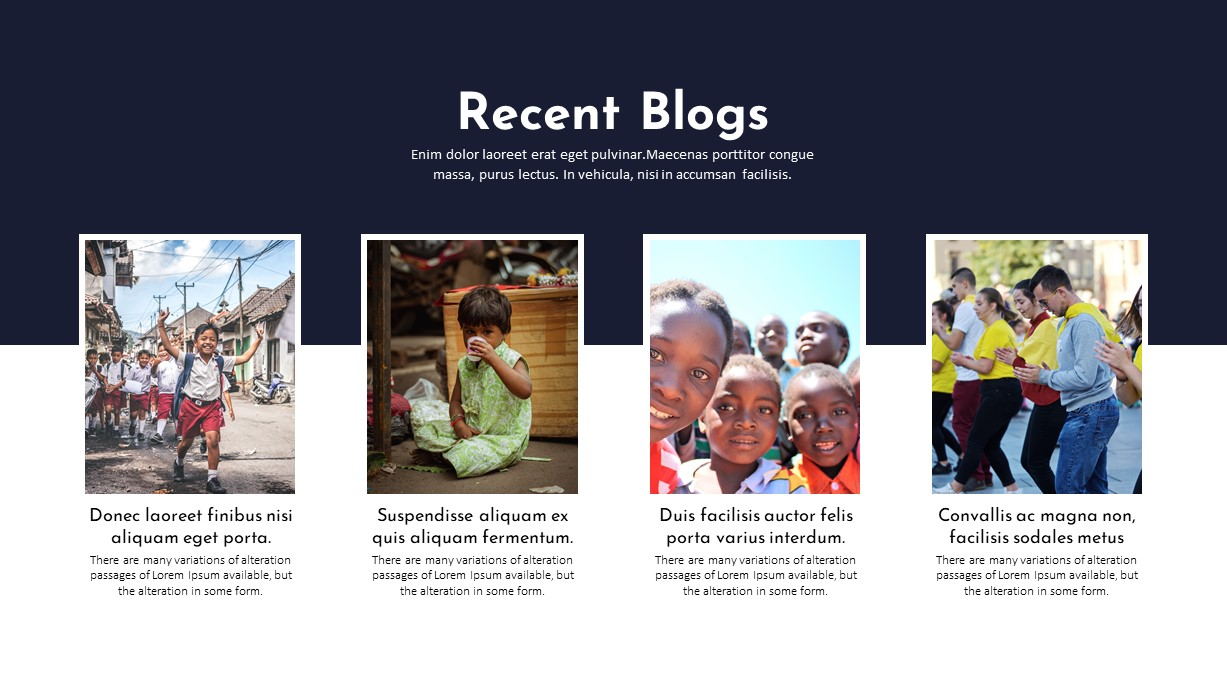 Charity PowerPoint Template Blogs