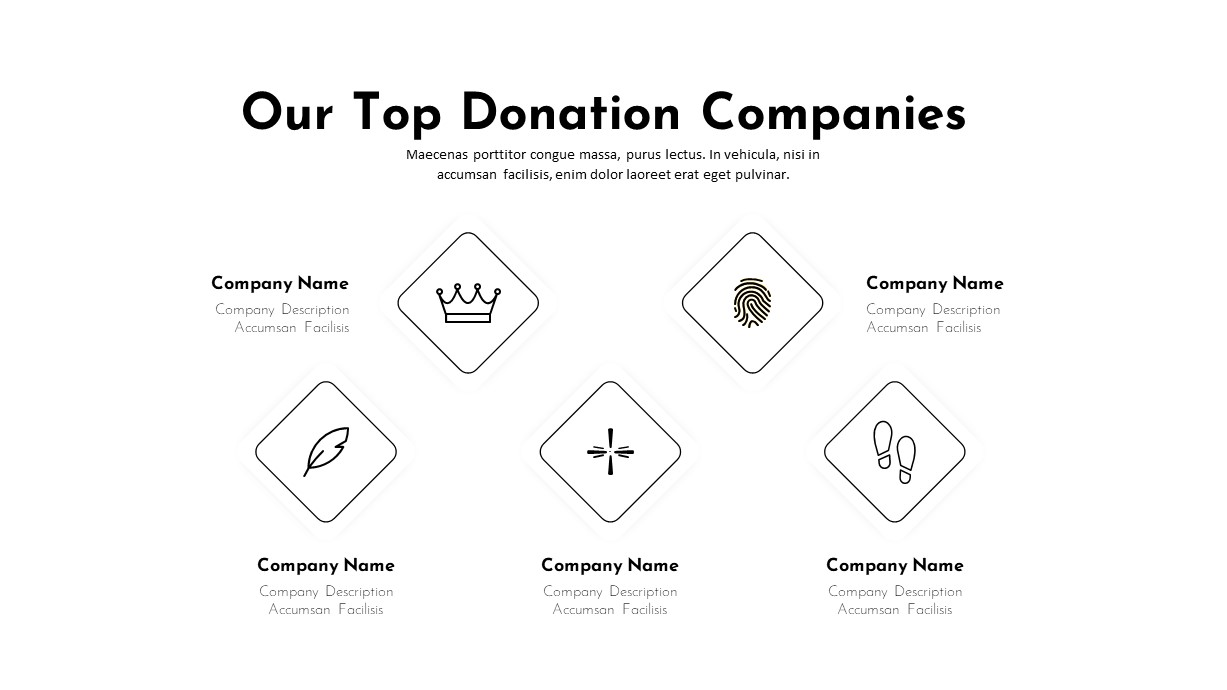 Charity PowerPoint Template Donation Companies