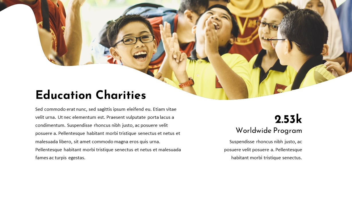 Education Charity PowerPoint Template