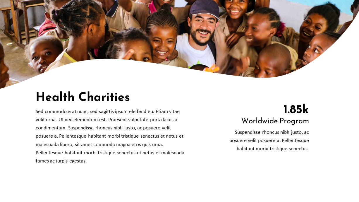 Health Charity PowerPoint Template