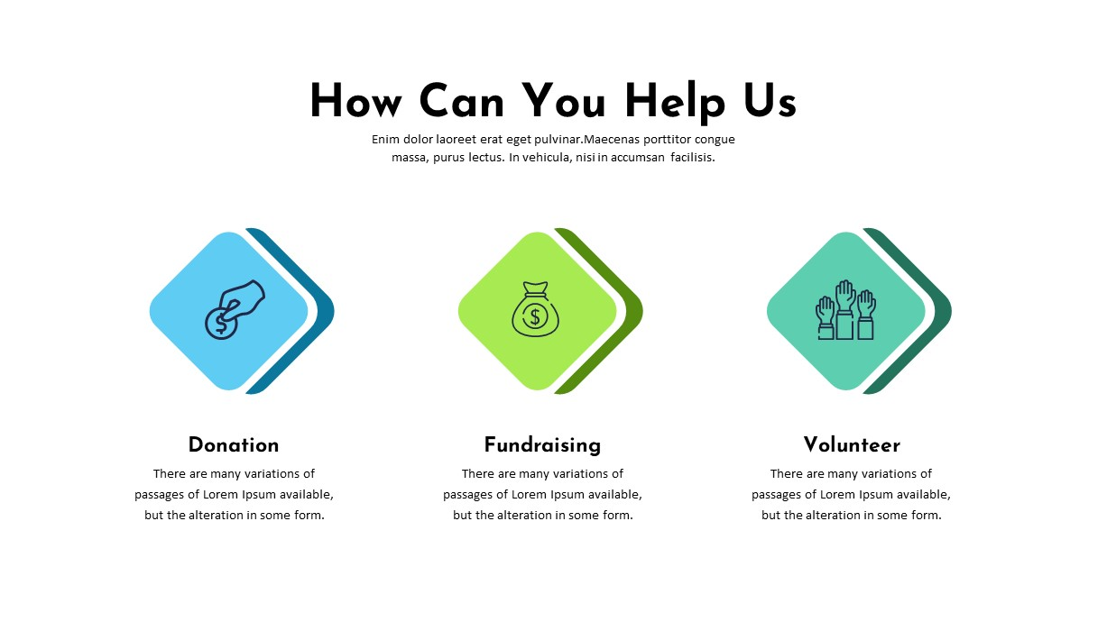 Charity Help Us PowerPoint Template
