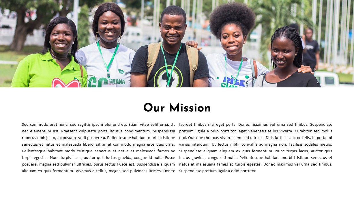 Mission Charity PowerPoint Template