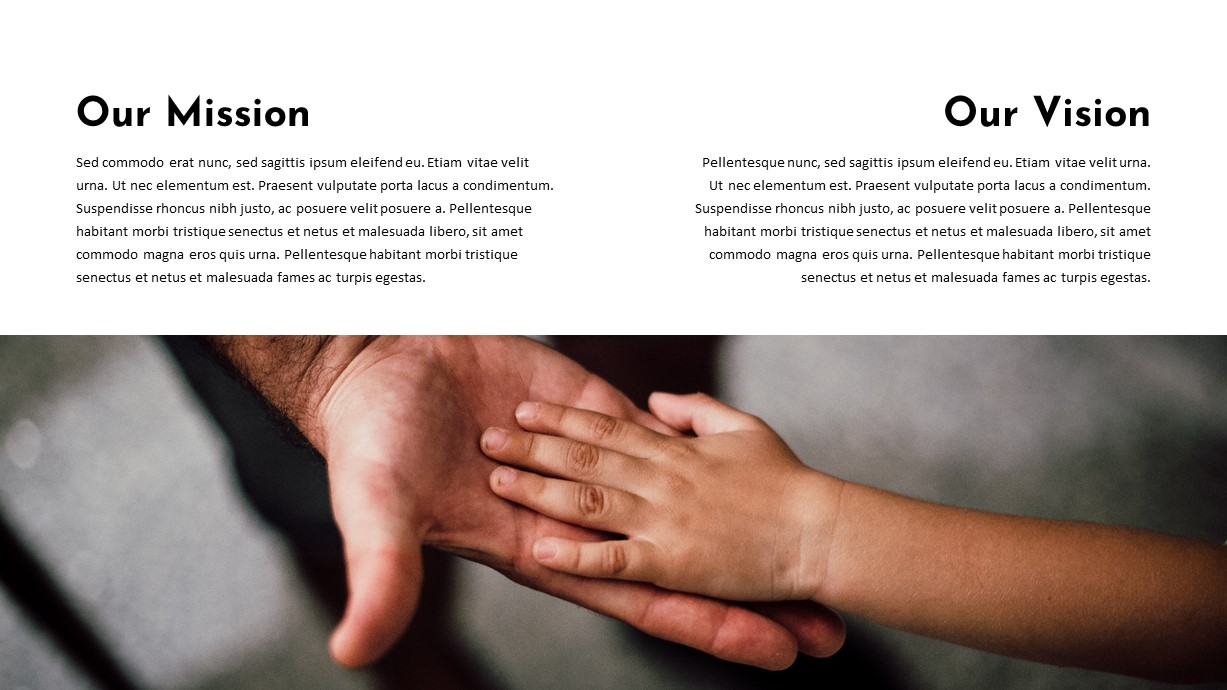 Mission Vision Charity PowerPoint Template