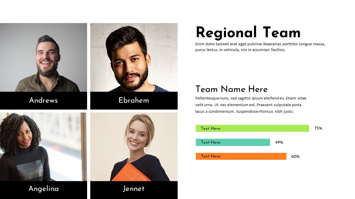Charity PowerPoint Template Regional Team