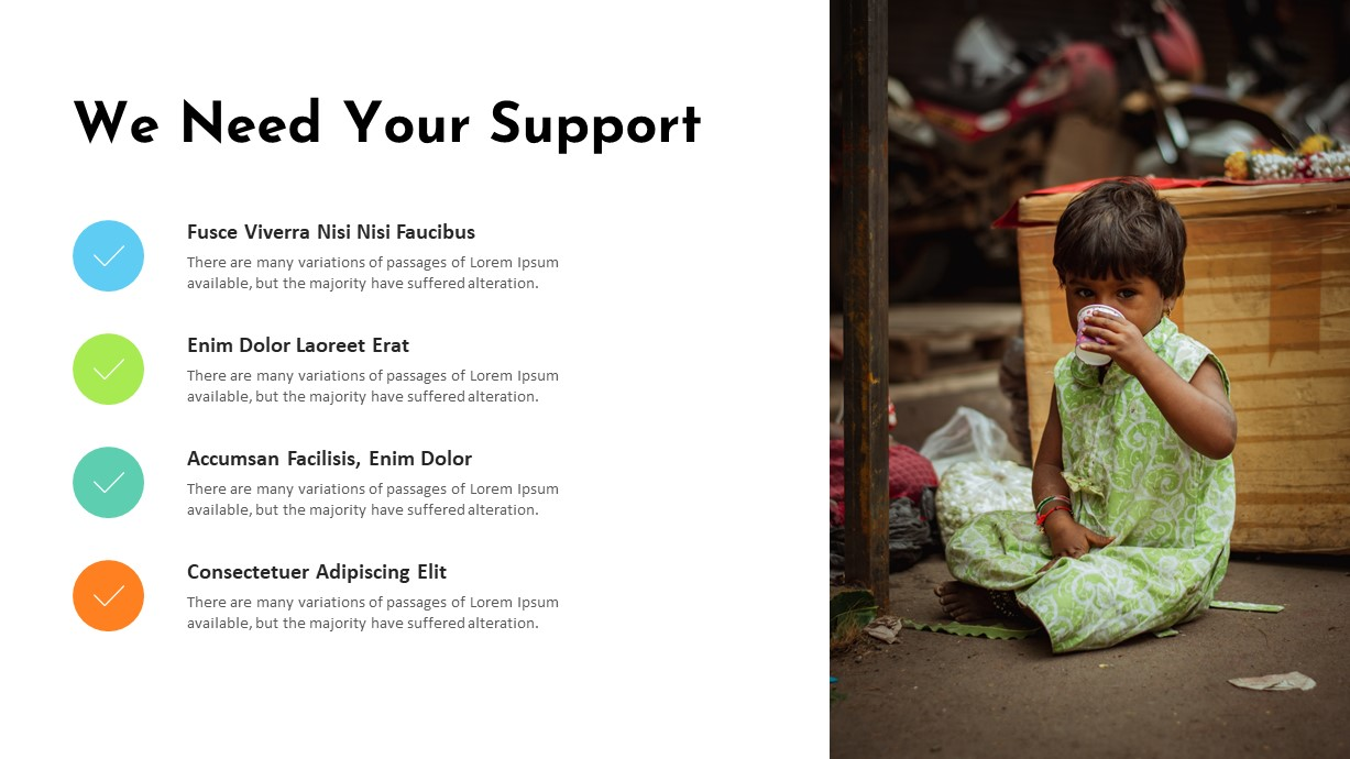 Charity Support PowerPoint Template