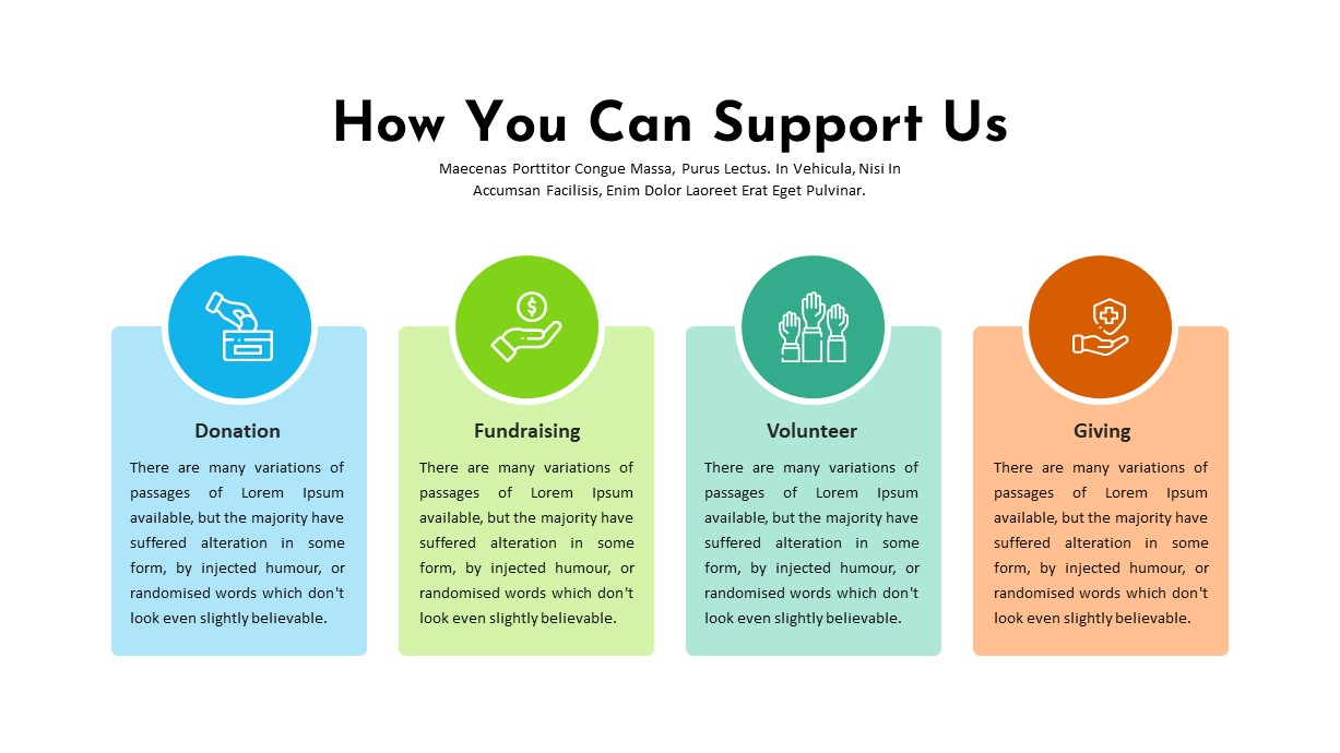 Charity PowerPoint Template Support Us