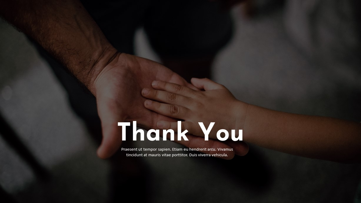Charity PowerPoint Template Thank You Slide
