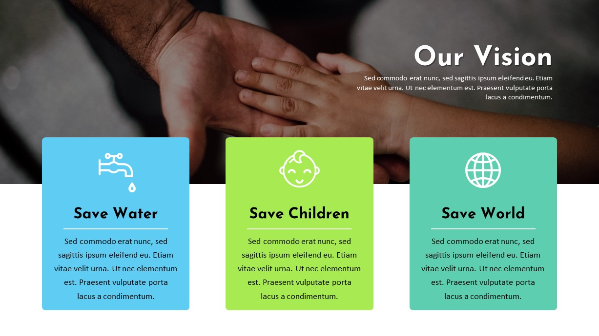 Charity Vision PowerPoint Template