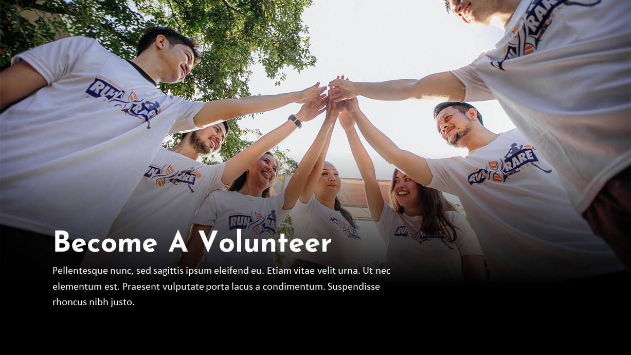 Charity Volunteer PowerPoint Template