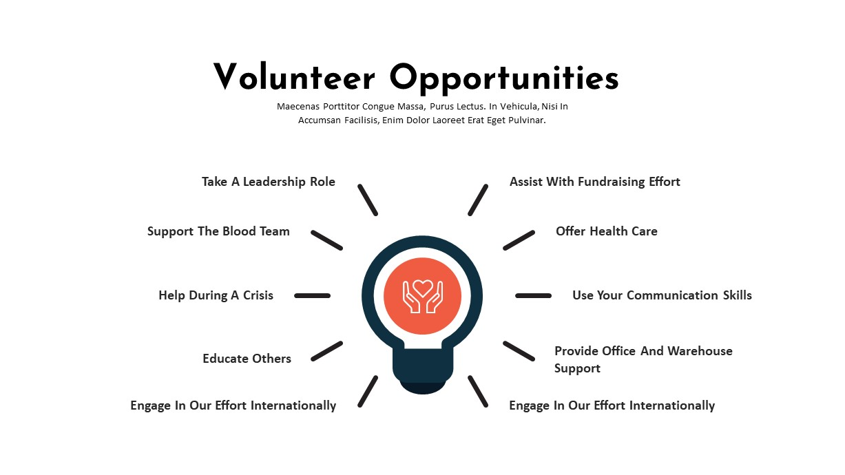 Charity PowerPoint Template Volunteer Opportunities