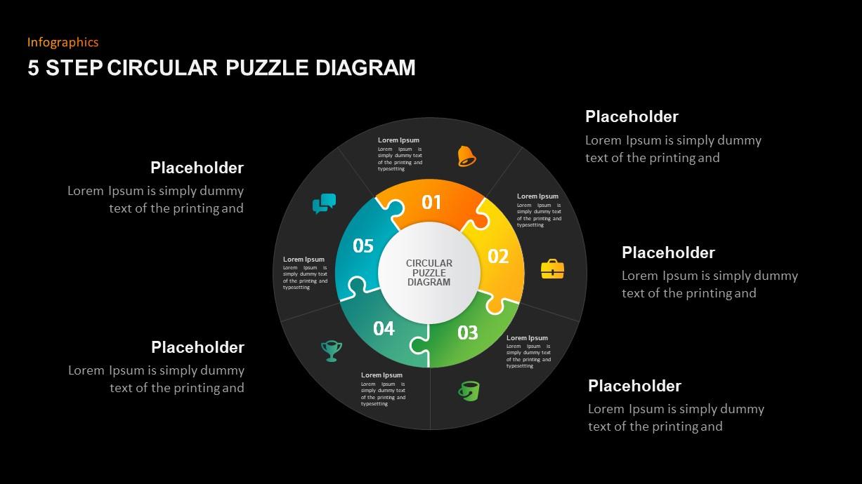 Circular Puzzle Diagram