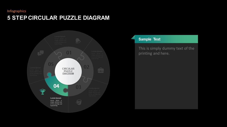 Circular Puzzle Diagram Ppt Template