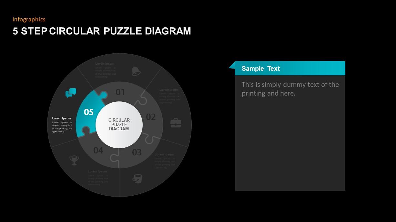 Circular Puzzle Diagram Presentation Template