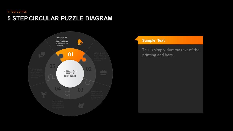Circular Puzzle Diagram Template