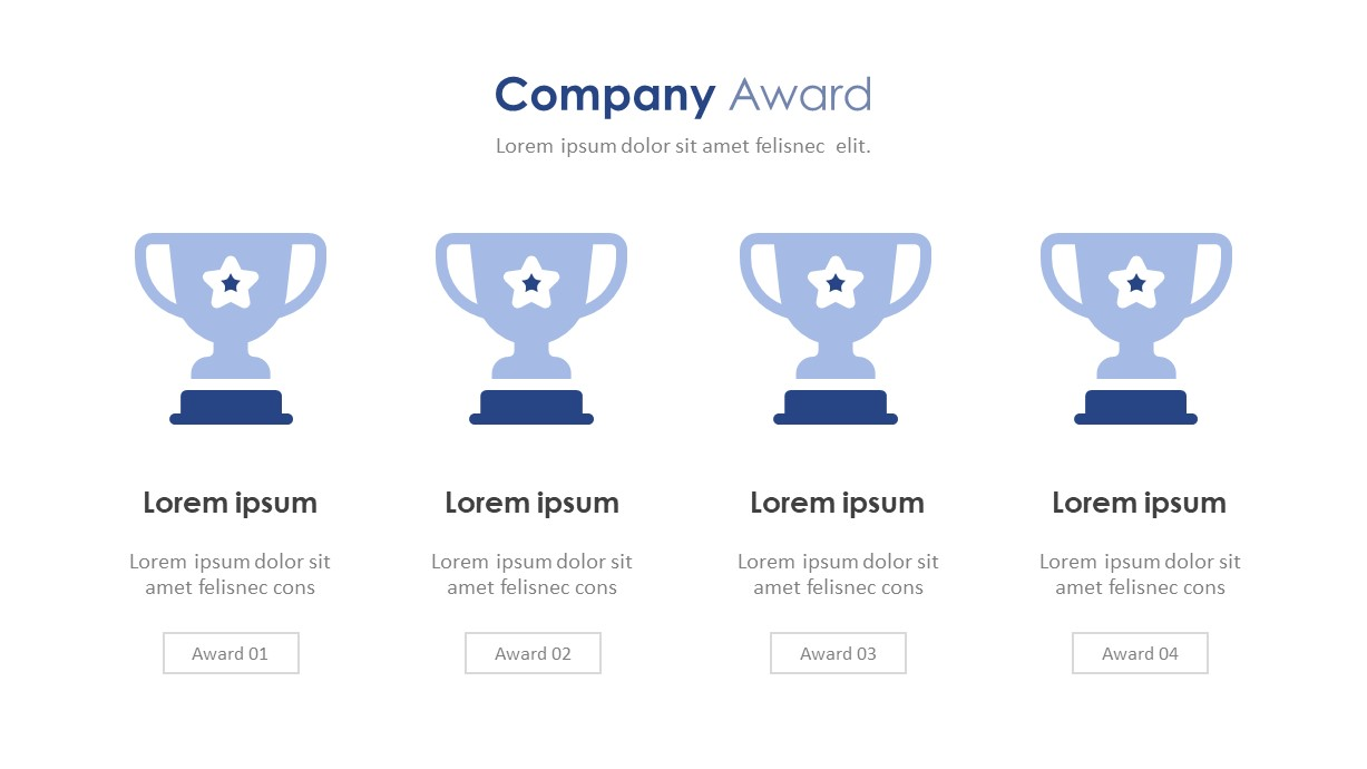 Company Profile Awards PowerPoint Template