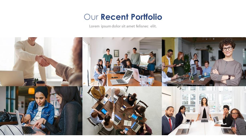 Company Profile Portfolio Deck Template