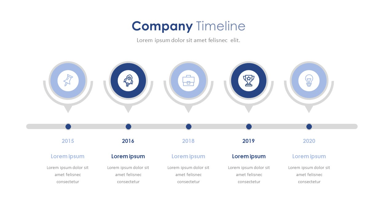 Company Profile Timeline PowerPoint Template