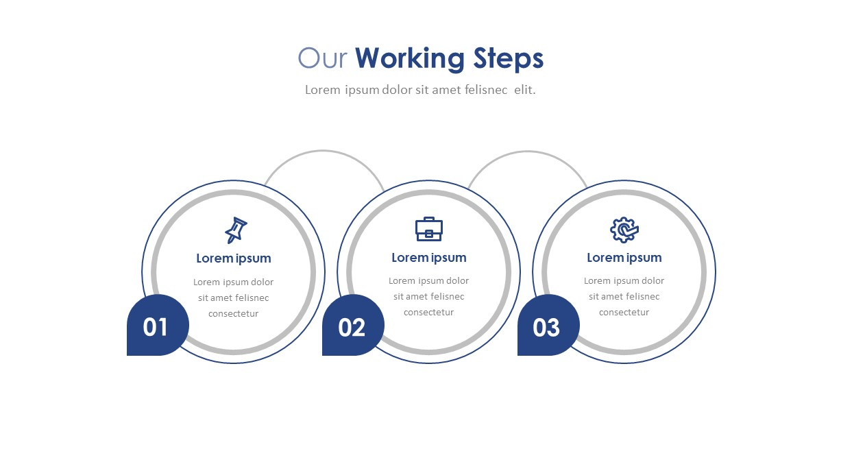 Company Profile Workin Steps PowerPoint Template