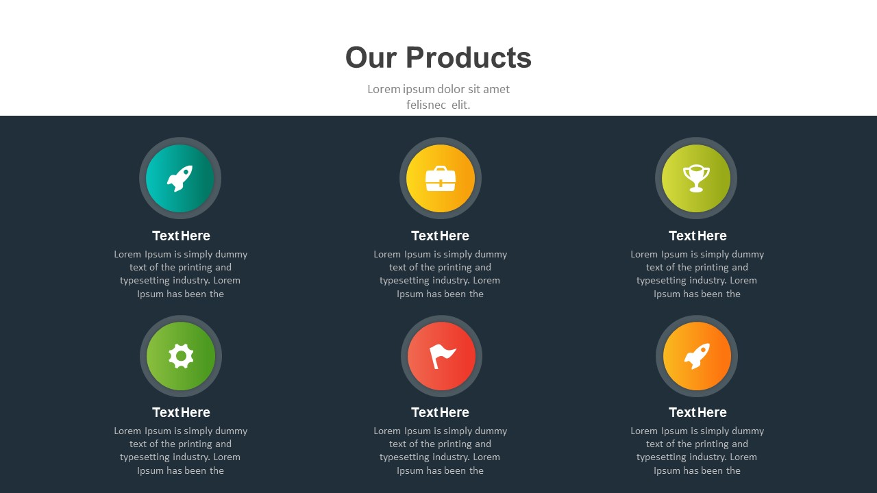 Company products PowerPoint template