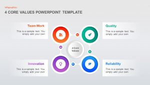 4 Step Core Values PowerPoint Template