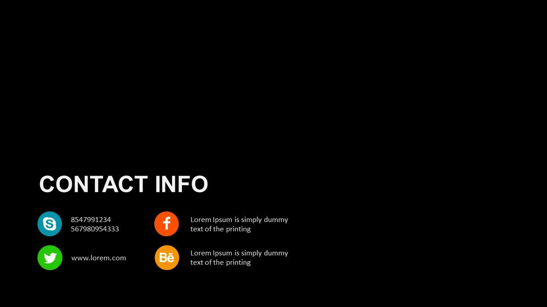 Digital Marketing Contact Info PowerPoint Template
